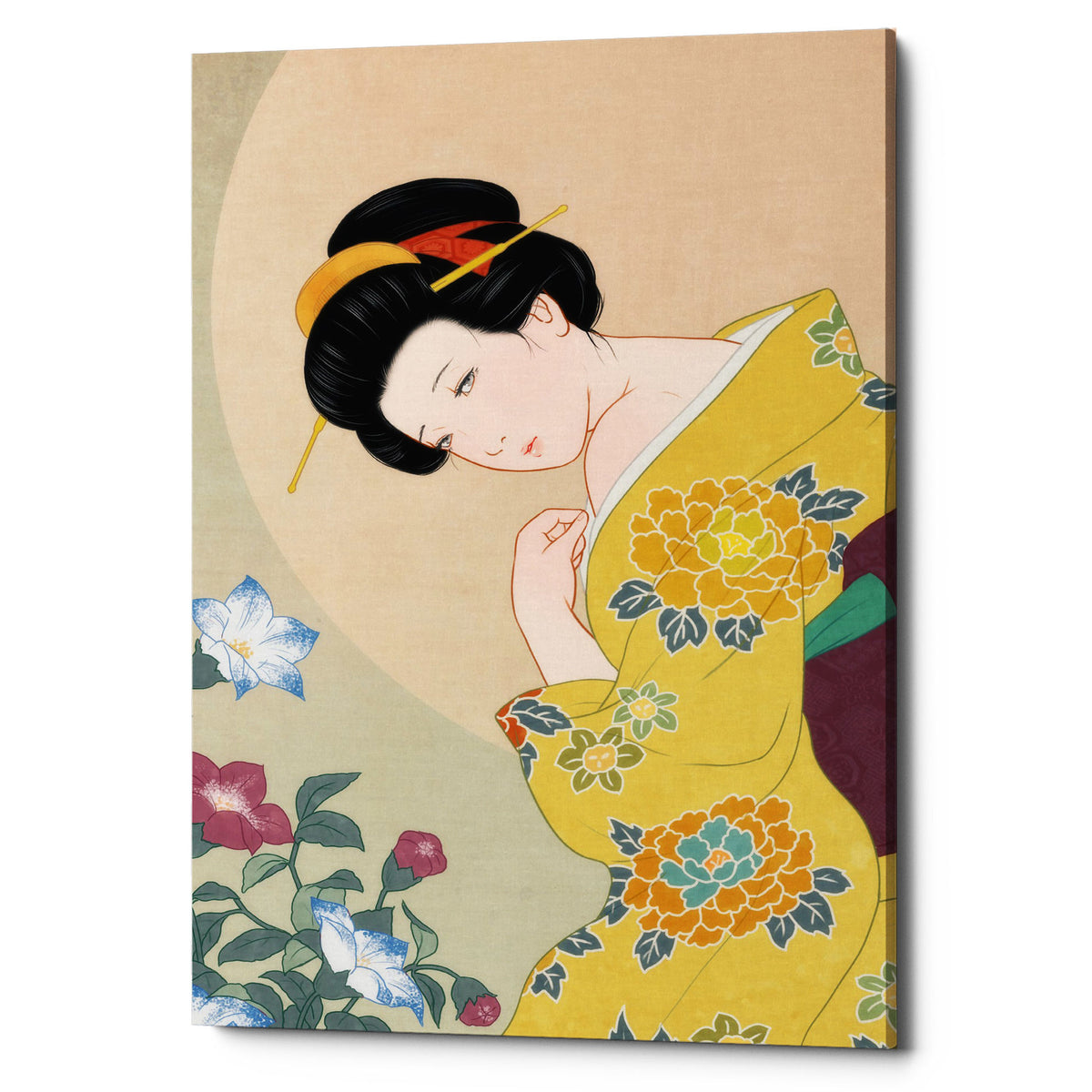 "Epic Graffiti ""Kikyou"" by Sai Tamiya, Giclee Canvas Wall Art, 18""x26"""