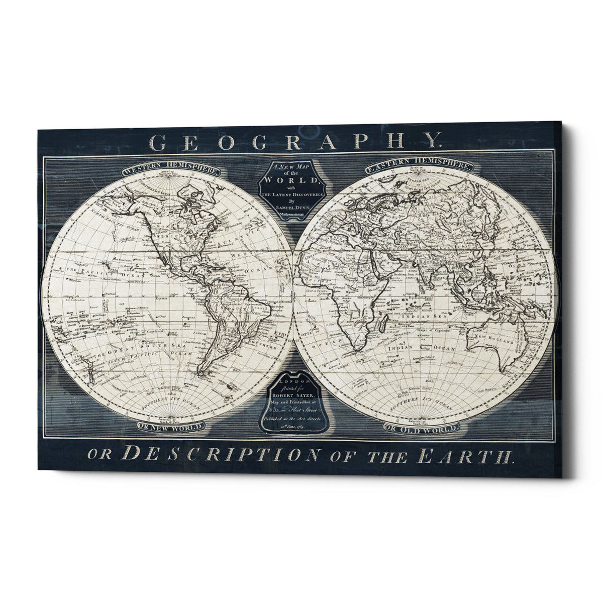 "Epic Graffiti ""Old World Globe"" by Wild Apple Portfolio, Giclee Canvas Wall Art, 18""x26"""