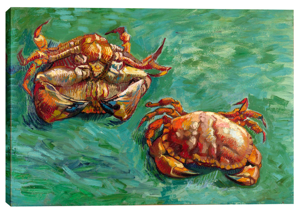"Epic Graffiti ""Two Crabs"" by Vincent Van Gogh Giclee Canvas Wall Art, 18"" x 26"""