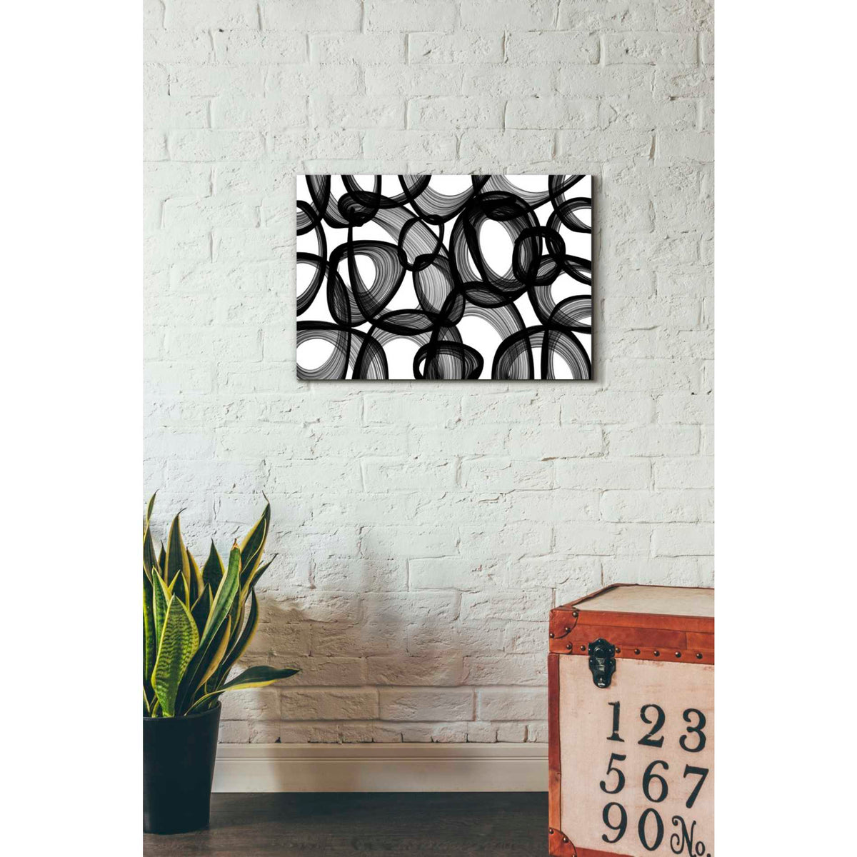 Epic Graffiti 'Abstract Black and White 2015' by Irena Orlov, Giclee Canvas Wall Art
