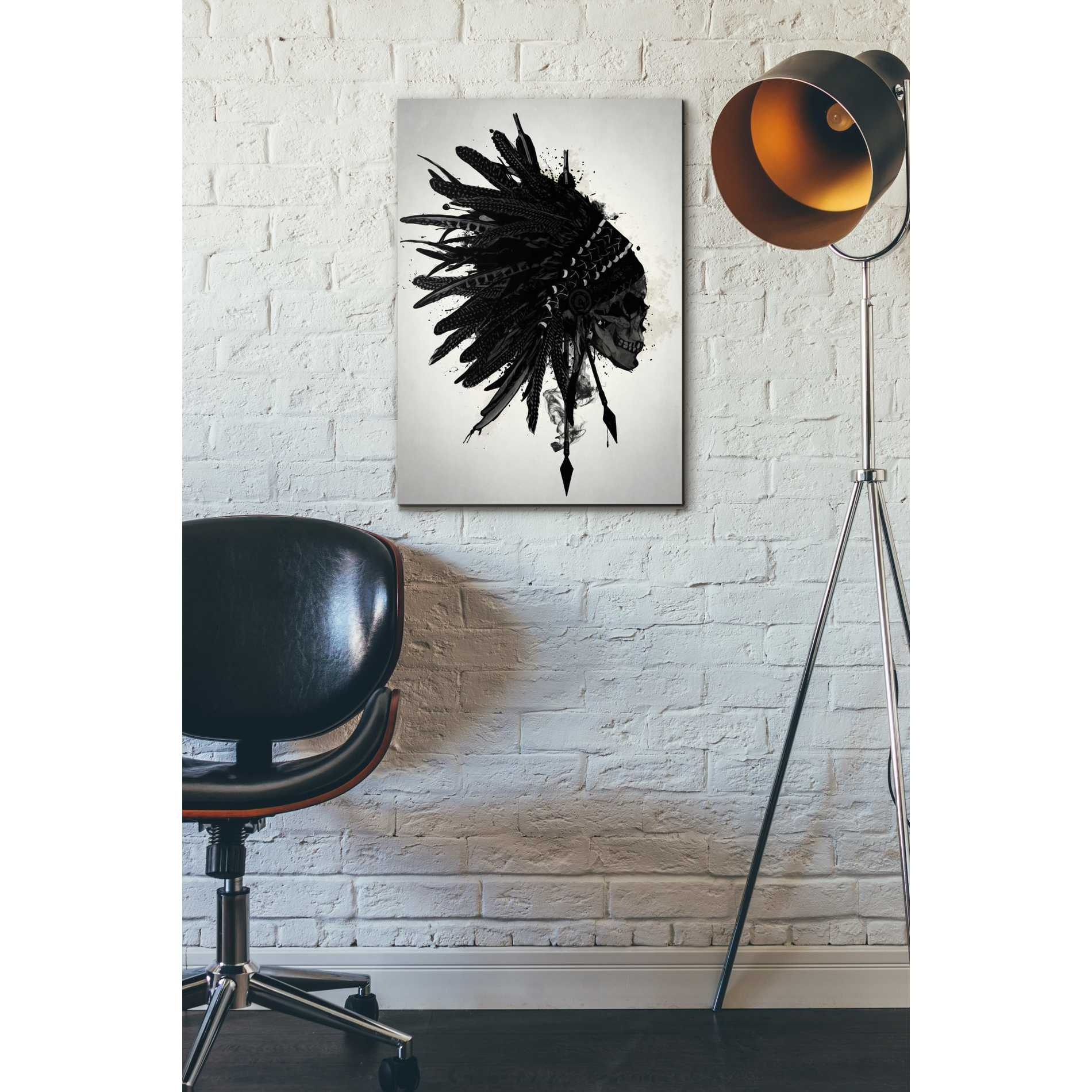 "Cortesi Home ""Warbonnet Skull"" by Nicklas Gustafsson, Giclee Canvas Wall Art"