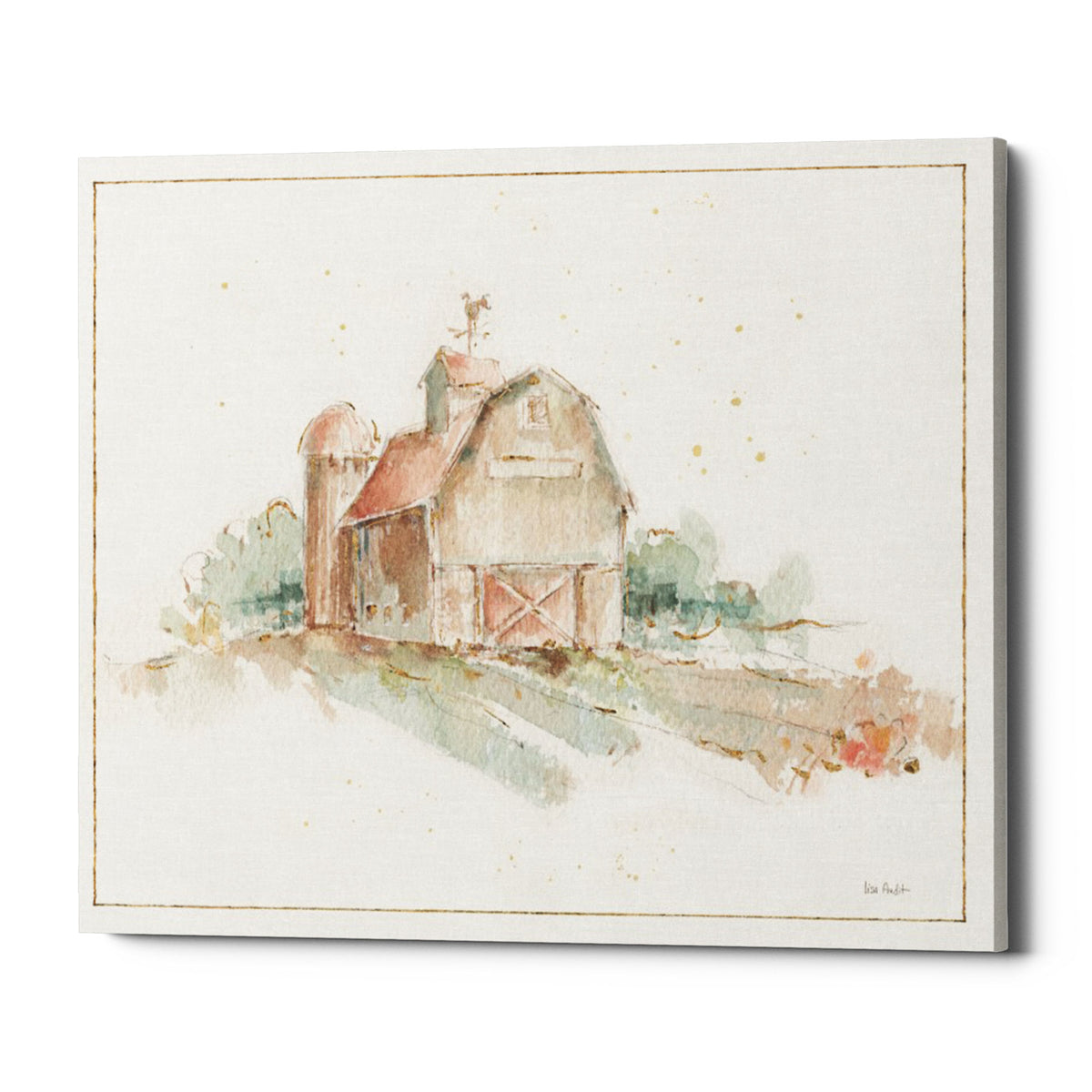"Epic Graffiti ""Farm Friends XV Barn"" by Lisa Audit, Giclee Canvas Wall Art, 20""x24"""