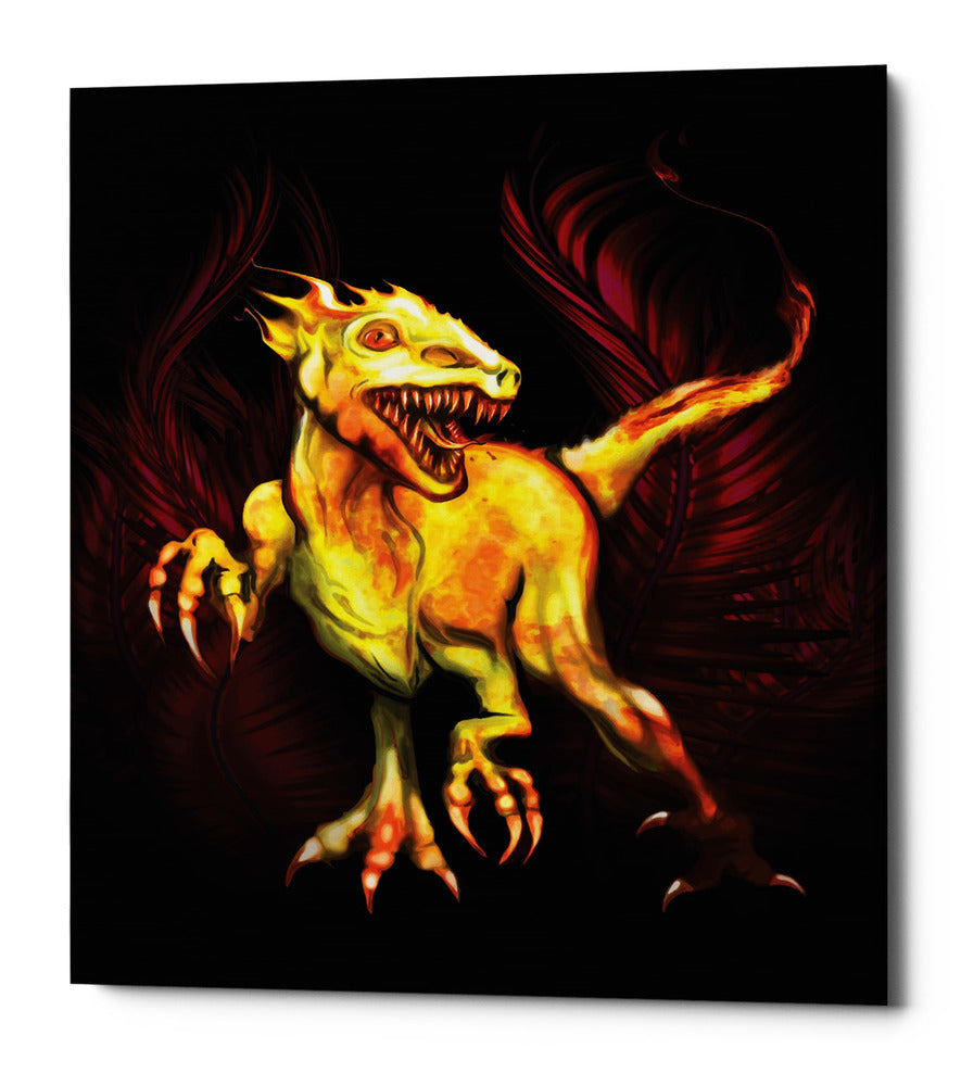 "Epic Graffiti ""Raptor"" by Michael Stewart, Giclee Canvas Wall Art, 20""x24"""