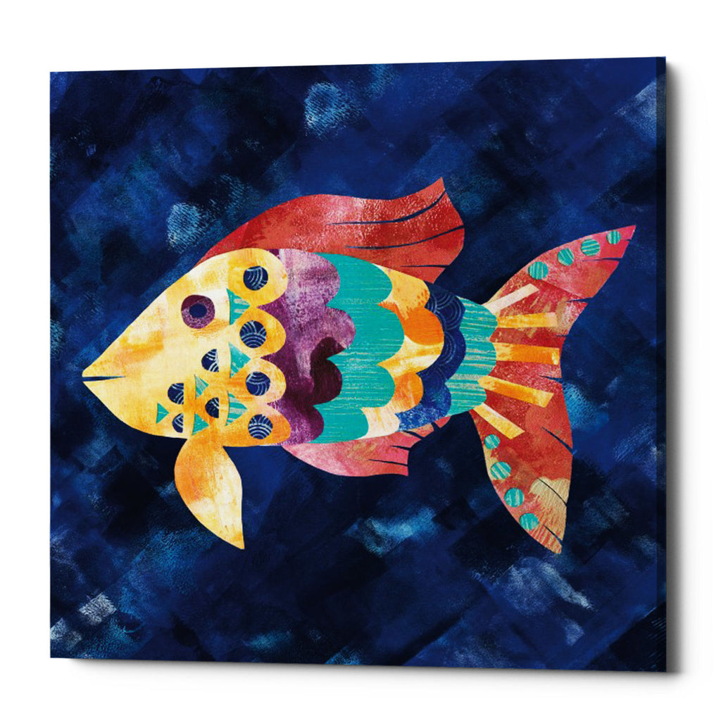 "Epic Graffiti ""Boho Reef VI"" by Wild Apple Portfolio, Giclee Canvas Wall Art, 26""x26"""