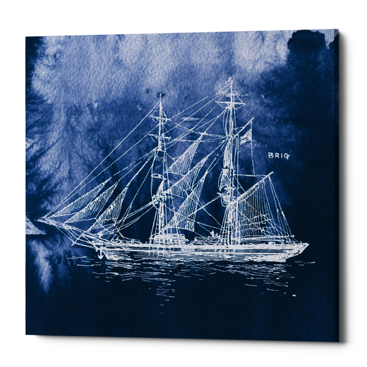 "Epic Graffiti ""Sailing Ships IV"" by Wild Apple Portfolio, Giclee Canvas Wall Art, 26""x26"""