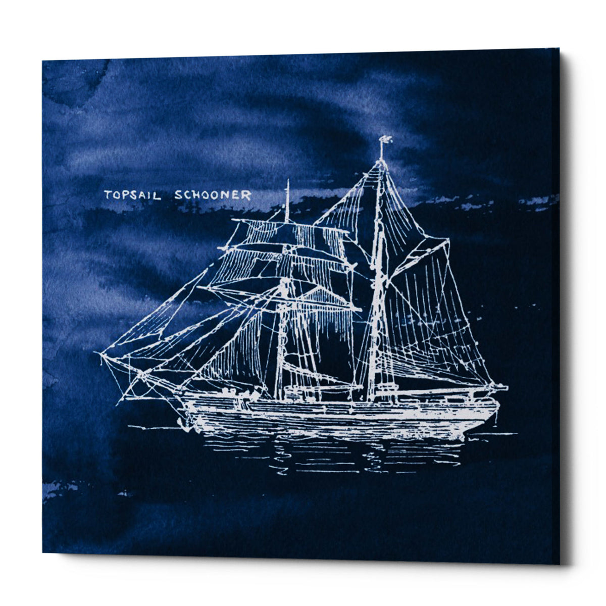 "Epic Graffiti ""Sailing Ships V"" by Wild Apple Portfolio, Giclee Canvas Wall Art, 26""x26"""