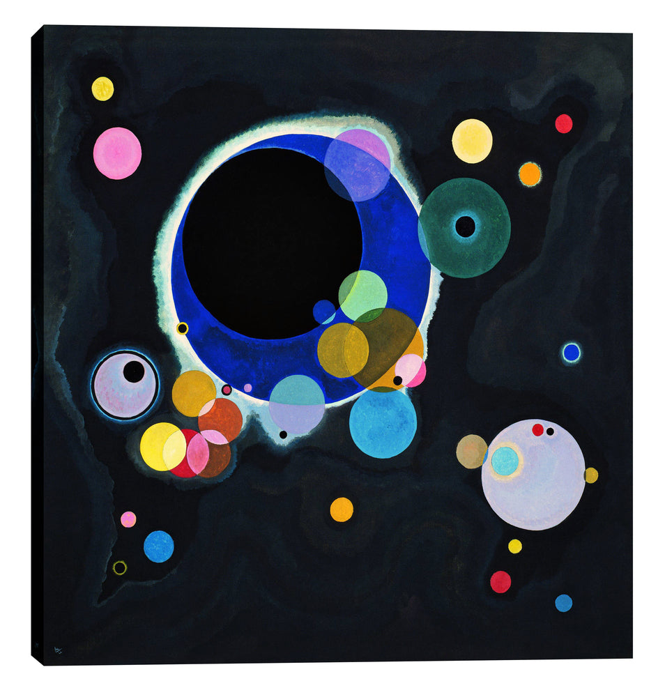 "Epic Graffiti ""Several Circles"" by Wassily Kandinsky Giclee Canvas Wall Art, 26"" x 26"""