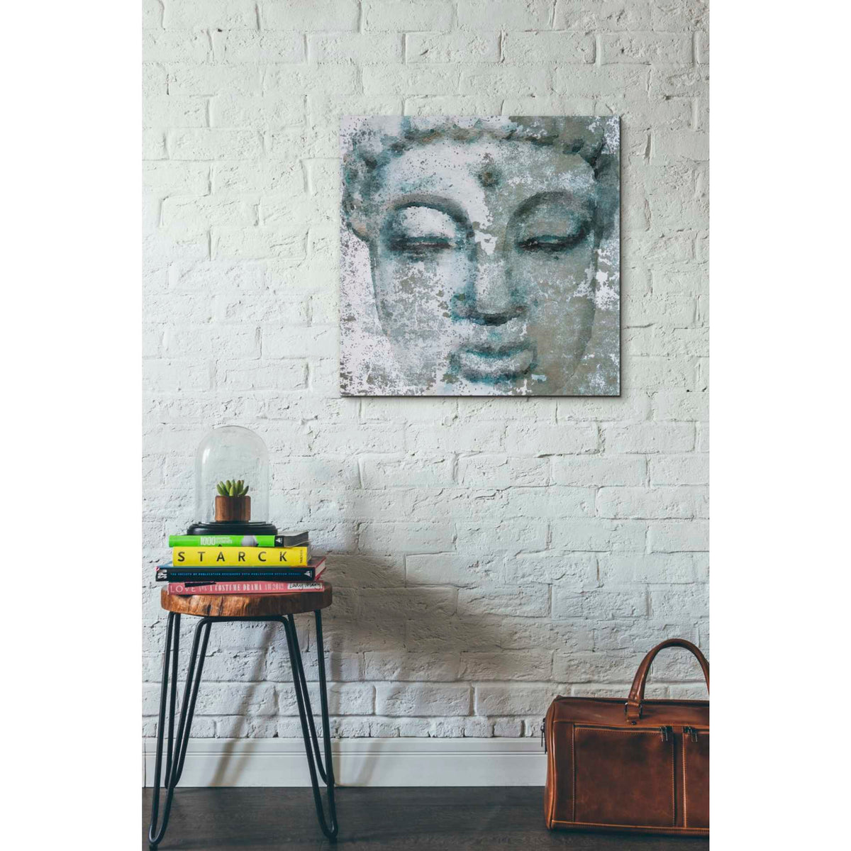 Epic Graffiti 'Buddha, Inner Peace 3' by Irena Orlov, Giclee Canvas Wall Art