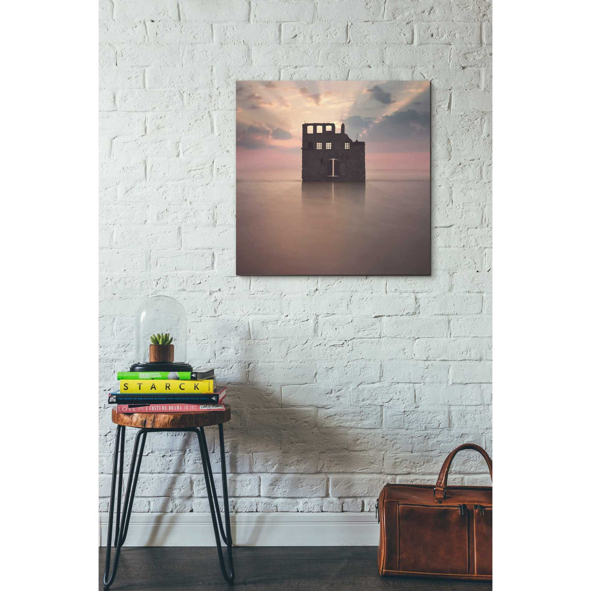 Epic Graffiti 'Watercastle' by Dariusz Klimczak, Canvas Wall Art,26 x 26