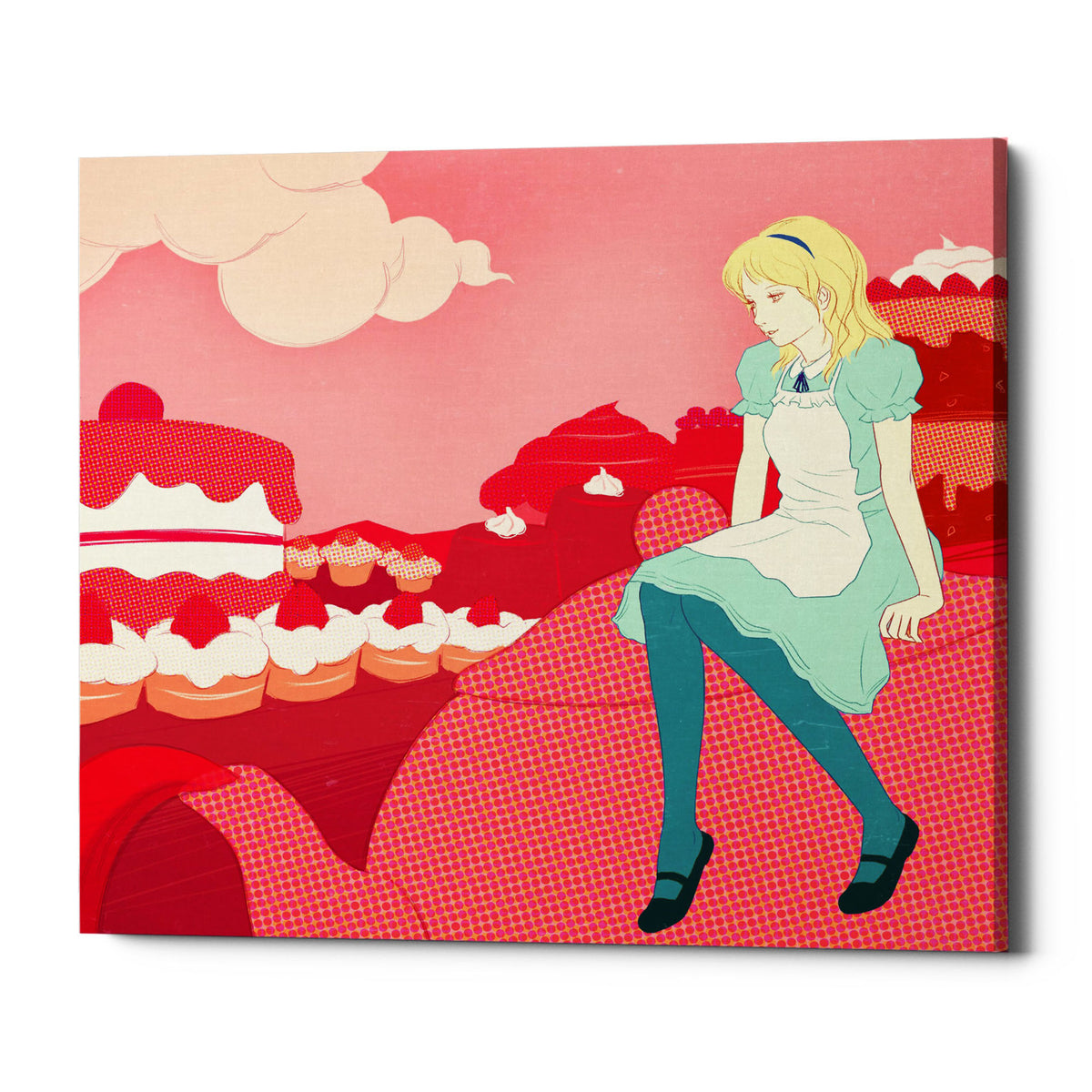 "Epic Graffiti ""Alice in the Candy World"" by Sai Tamiya, Giclee Canvas Wall Art, 26""x30"""