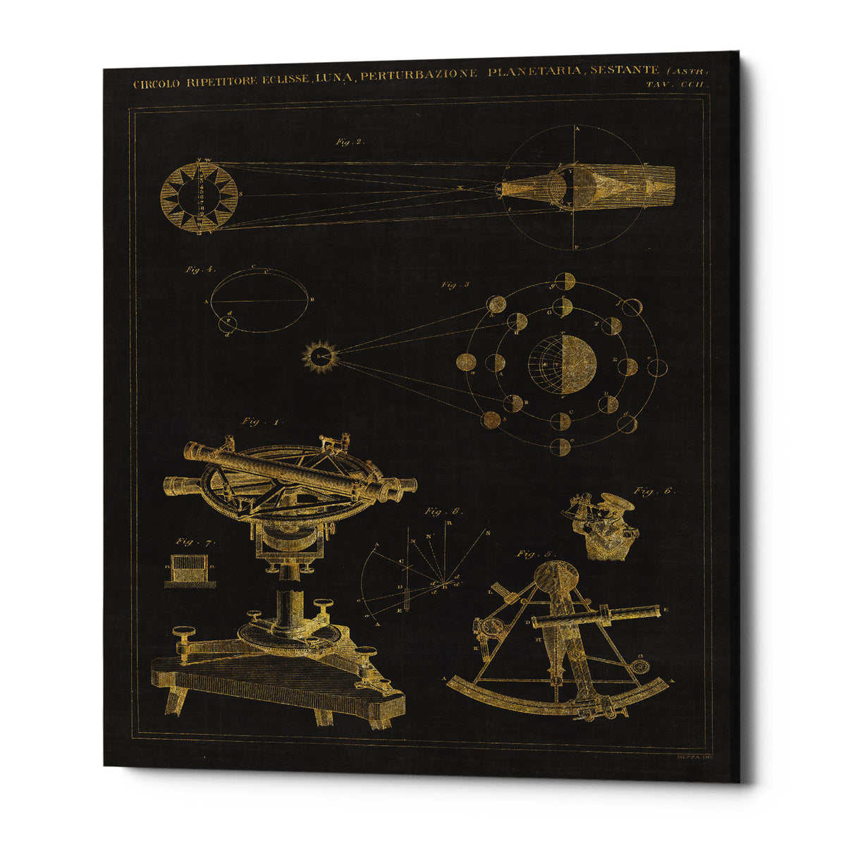"Epic Graffiti ""Astronomical Chart II"" by Wild Apple Portfolio, Giclee Canvas Wall Art, 26""x34"""