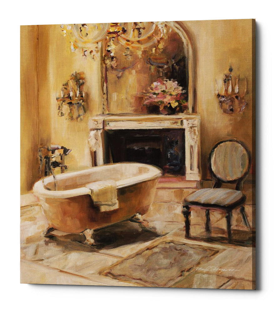 "Epic Graffiti ""French Bath I"" by Marilyn Hageman, Giclee Canvas Wall Art, 26""x34"""