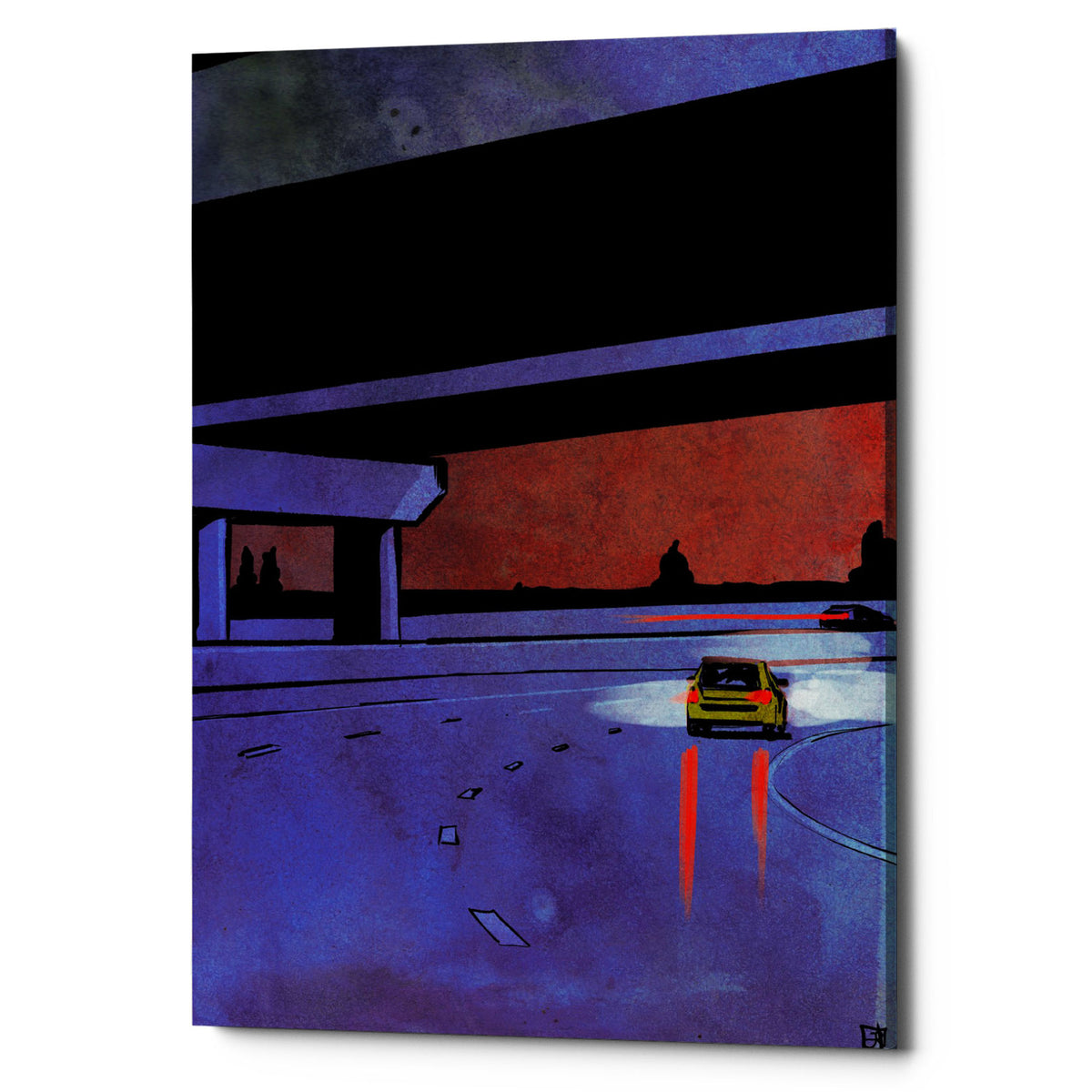 "Epic Graffiti ""Cars 7"" by Giuseppe Cristiano, Giclee Canvas Wall Art, 26""x40"""