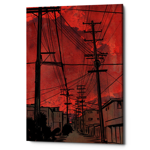 "Epic Graffiti ""Wires 3"" by Giuseppe Cristiano, Giclee Canvas Wall Art, 26""x40"""
