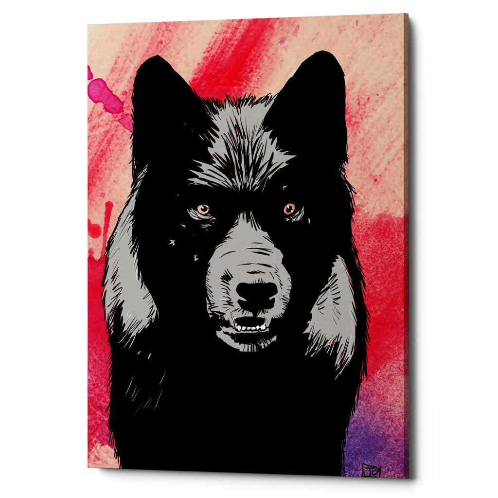 "Epic Graffiti ""Wolf"" by Giuseppe Cristiano, Giclee Canvas Wall Art, 26""x40"""