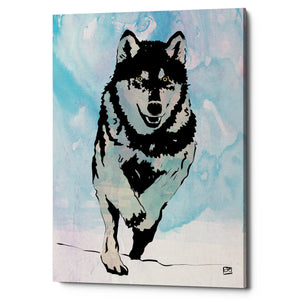 "Epic Graffiti ""Wolf 2"" by Giuseppe Cristiano, Giclee Canvas Wall Art, 26""x40"""