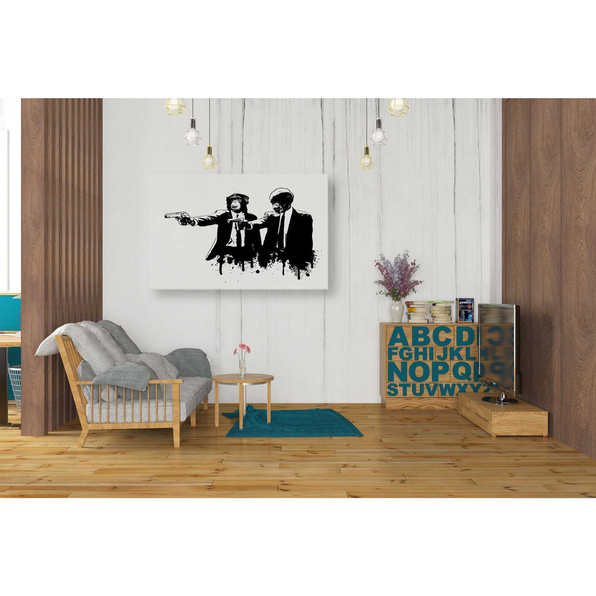 "Cortesi Home ""Divine Monkey Intervention"" by Nicklas Gustafsson, Giclee Canvas Wall Art"