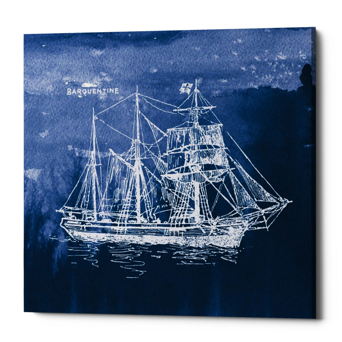 "Epic Graffiti ""Sailing Ships III"" by Wild Apple Portfolio, Giclee Canvas Wall Art, 37""x37"""