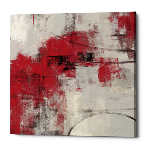 "Epic Graffiti ""Stone Gardens II Red"" by Silvia Vassileva, Giclee Canvas Wall Art, 37""x37"""