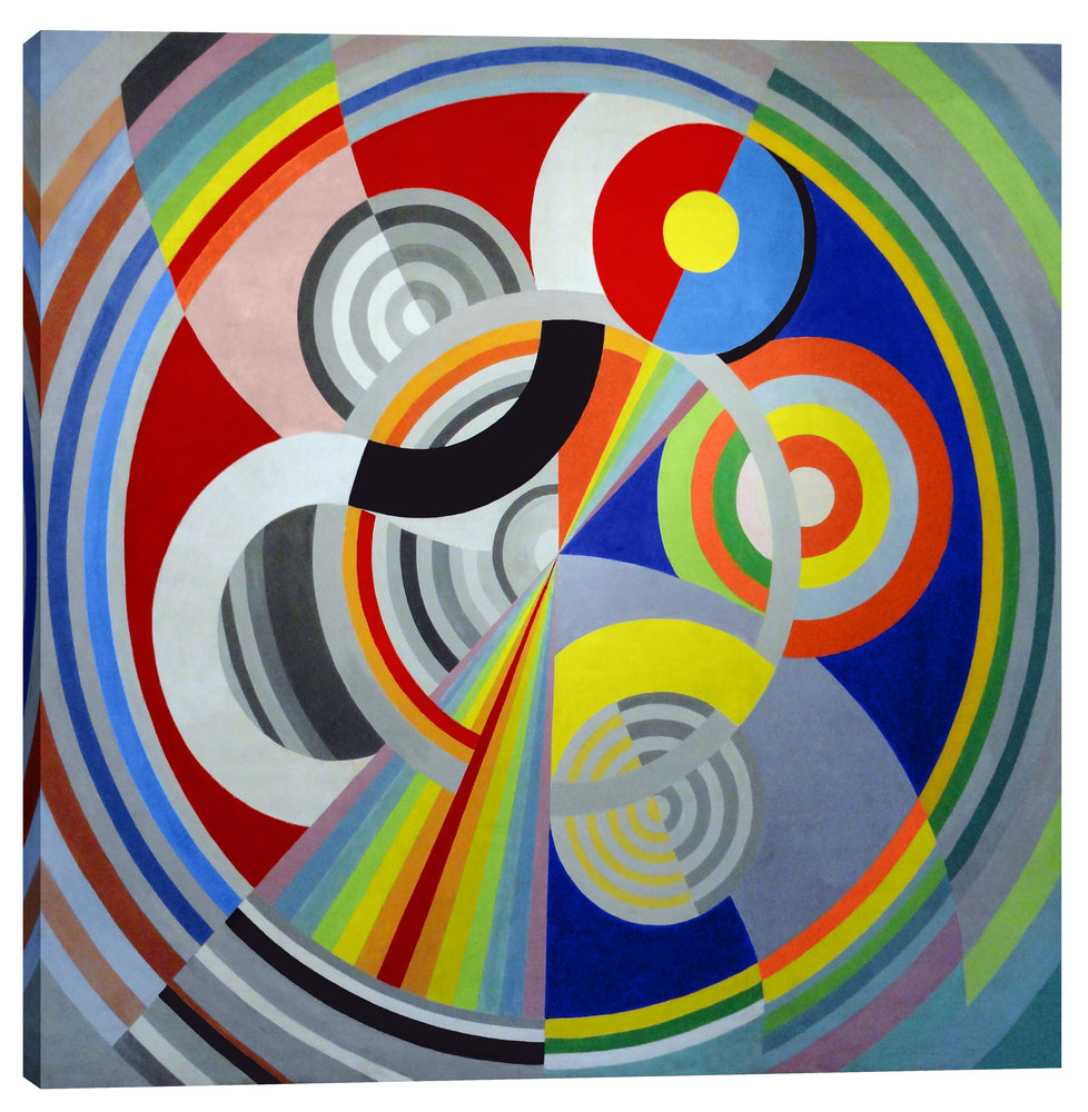 "Epic Graffiti ""Rythme n°1"" by Robert Delaunay Giclee Canvas Wall Art, 40"" x 40"""