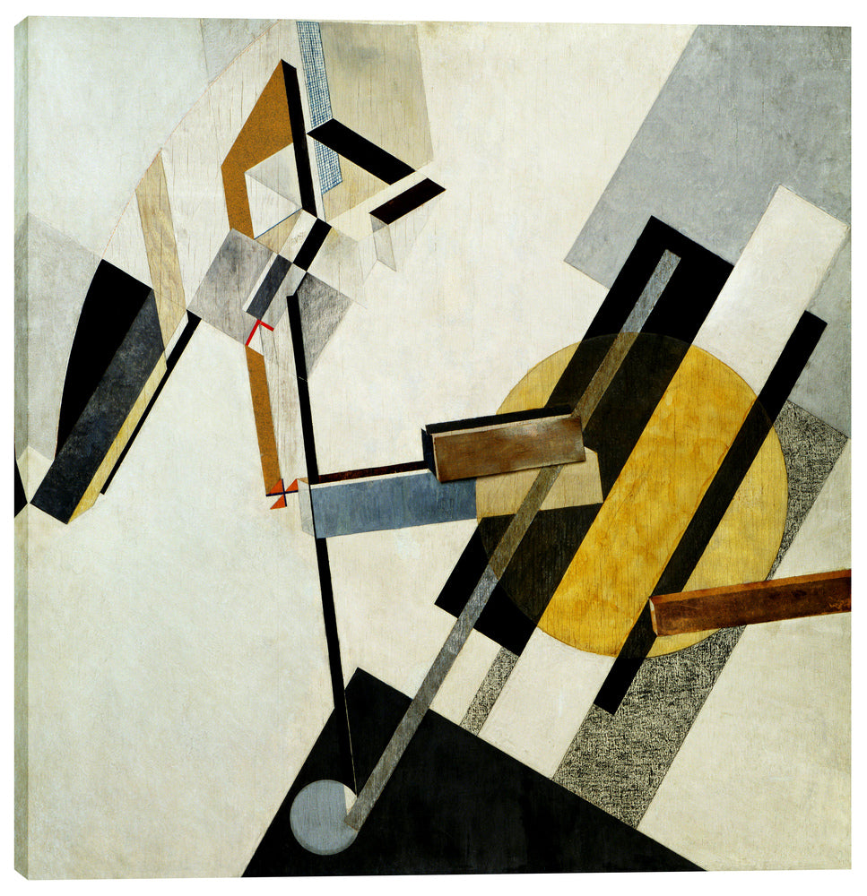 "Epic Graffiti ""Proun 19D"" by El Lissitzky Giclee Canvas Wall Art, 37"" x 37"""