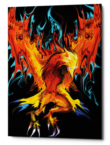 "Epic Graffiti ""Fall To Ashes"" by Michael Stewart, Giclee Canvas Wall Art, 40""x54"""