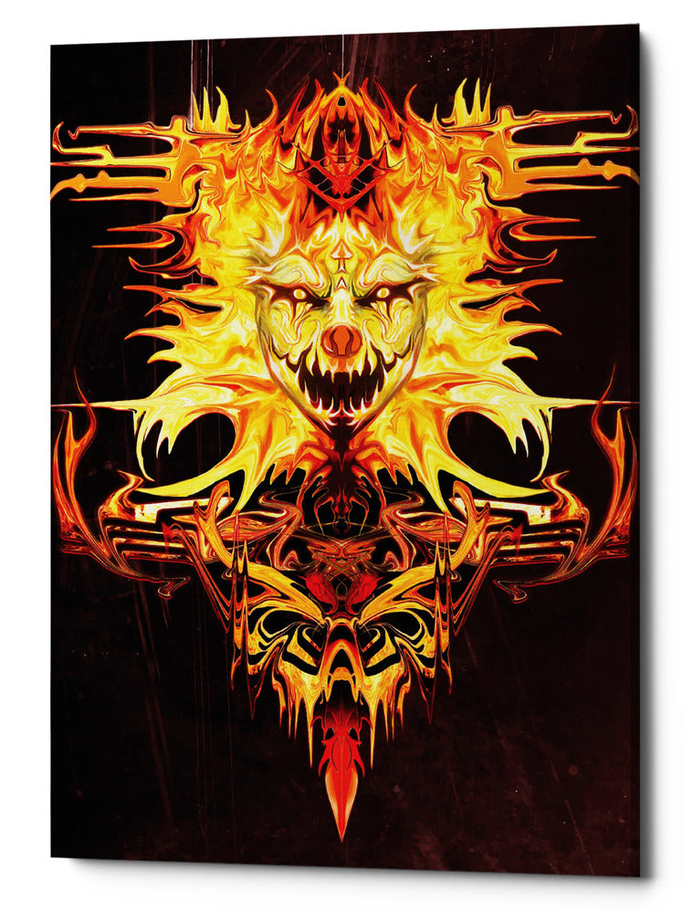 "Epic Graffiti ""Trickster"" by Michael Stewart, Giclee Canvas Wall Art, 40""x54"""
