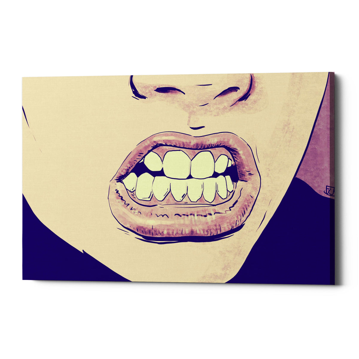 "Epic Graffiti ""GRRR"" by Giuseppe Cristiano, Giclee Canvas Wall Art, 40""x54"""