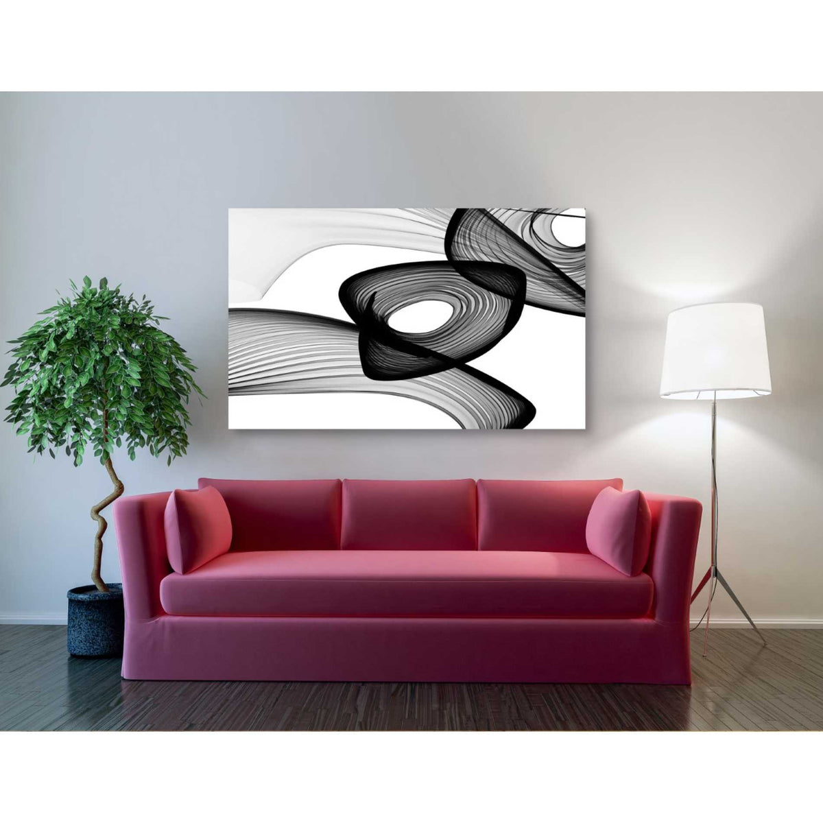 Epic Graffiti 'Abstract Black and White 22-16' by Irena Orlov, Giclee Canvas Wall Art