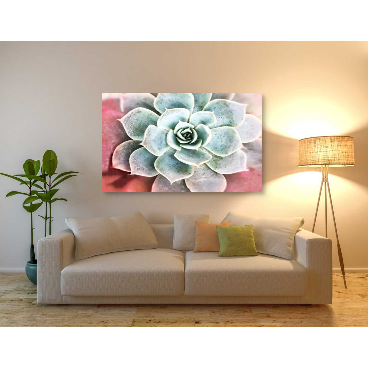 Epic Graffiti 'Succulent Garden' by Irena Orlov, Giclee Canvas Wall Art