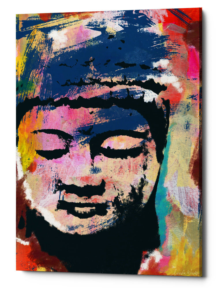 "Epic Graffiti ""Painted Buddha"" by Linda Woods, Giclee Canvas Wall Art, 40""x60"""