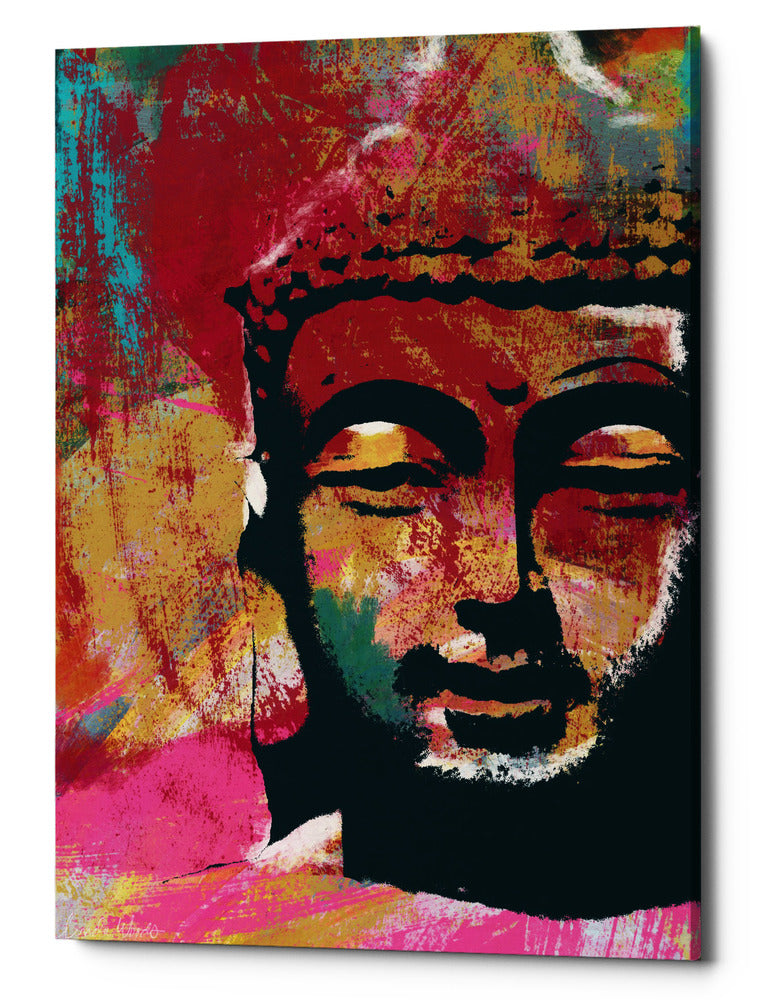 "Epic Graffiti ""Painted Buddha IV"" by Linda Woods, Giclee Canvas Wall Art, 40""x60"""