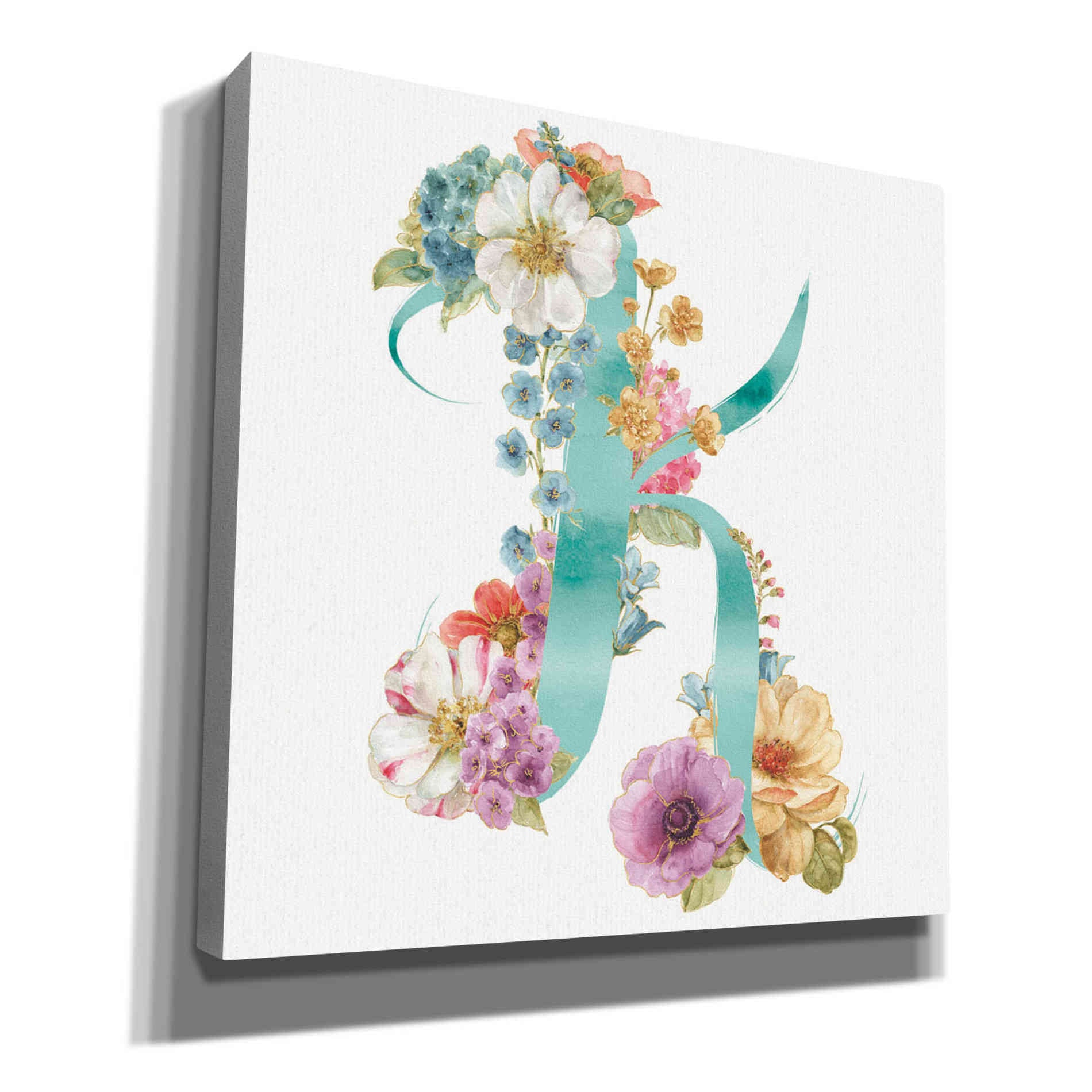 Epic Graffiti 'Rainbow Seeds Monogram K' by Lisa Audit, Canvas Wall Art