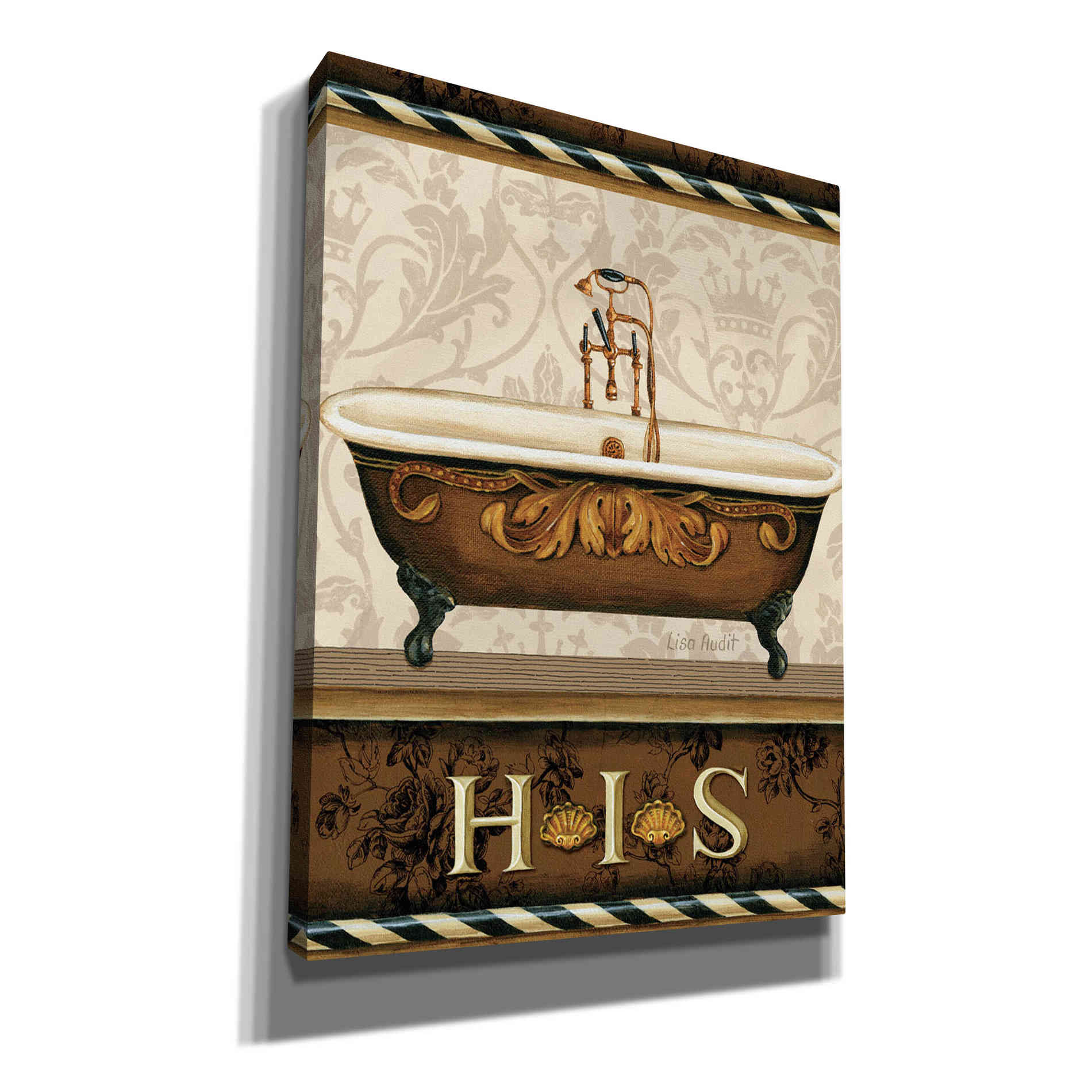 Epic Graffiti 'Bourgoisie Bath I' by Lisa Audit, Canvas Wall Art