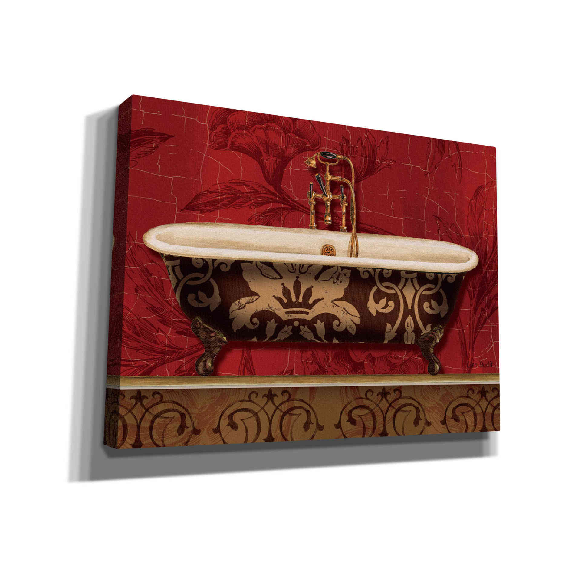 Epic Graffiti 'Royal Red Bath I' by Lisa Audit, Canvas Wall Art