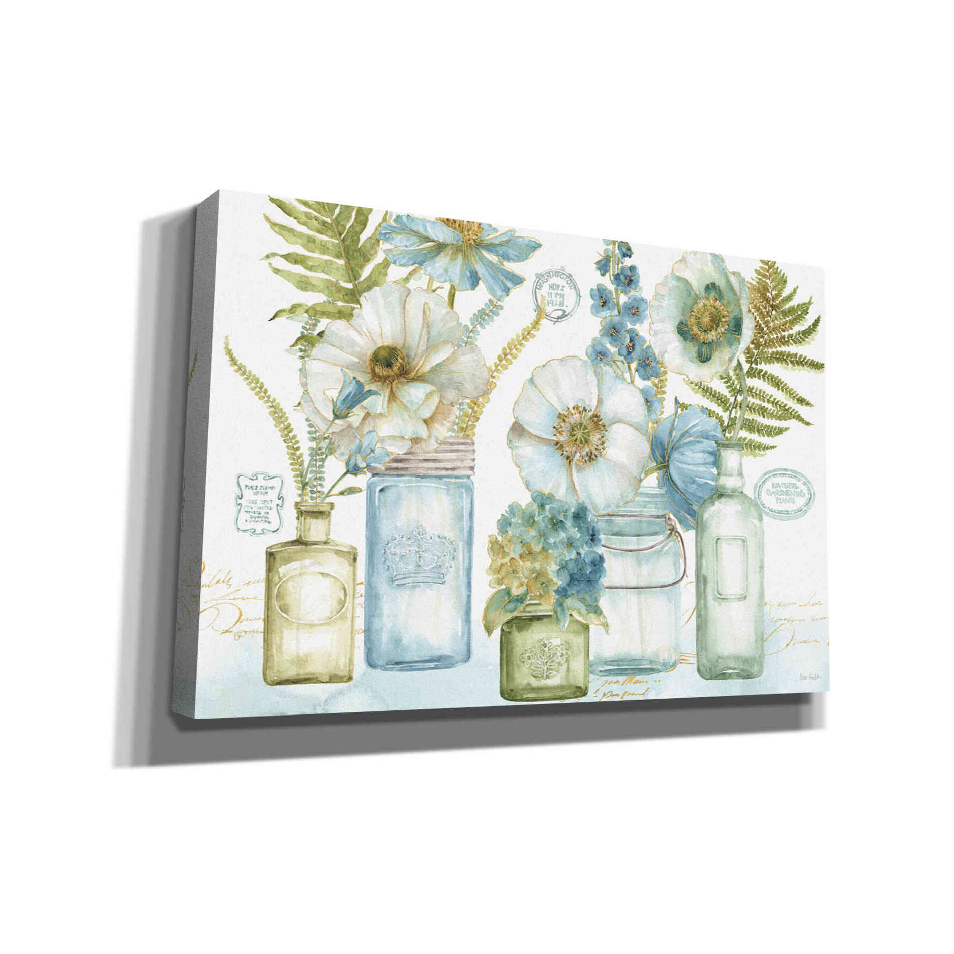Epic Graffiti 'My Greenhouse Bouquet I' by Lisa Audit, Canvas Wall Art