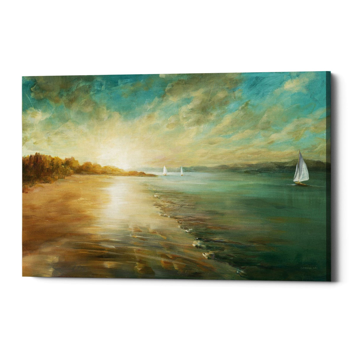 "Epic Graffiti ""Coastal Glow"" by Danhui Nai, Giclee Canvas Wall Art"