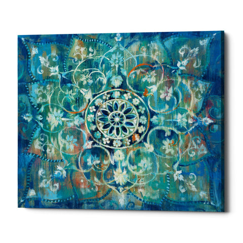 "Epic Graffiti ""Mandala in Blue I"" by Danhui Nai, Giclee Canvas Wall Art"
