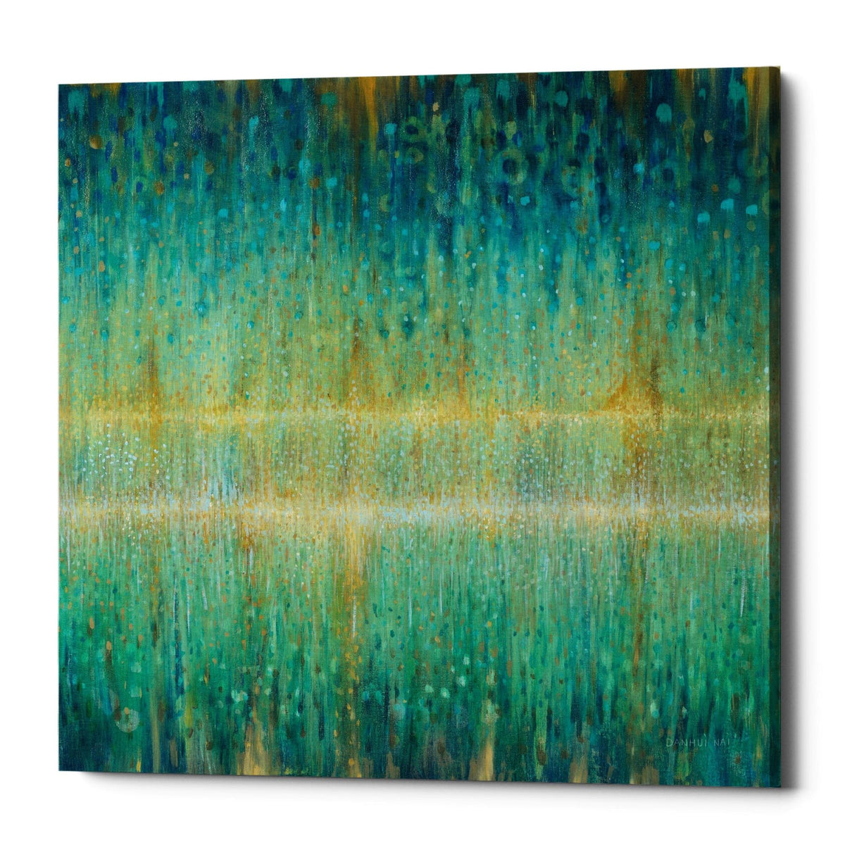 "Epic Graffiti ""Rain Abstract I"" by Danhui Nai, Giclee Canvas Wall Art"