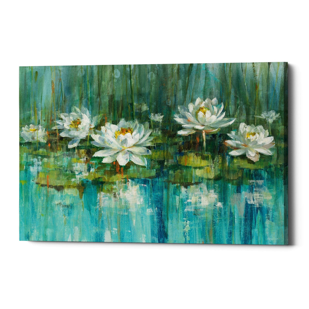 "Epic Graffiti ""Water Lily Pond"" by Danhui Nai, Giclee Canvas Wall Art"