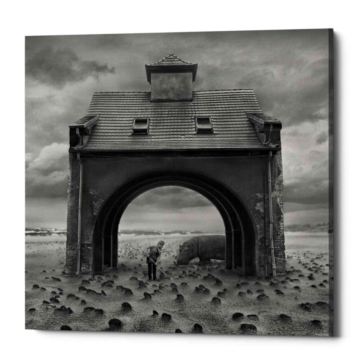 Epic Graffiti 'Gate' by Dariusz Klimczak, Canvas Wall Art