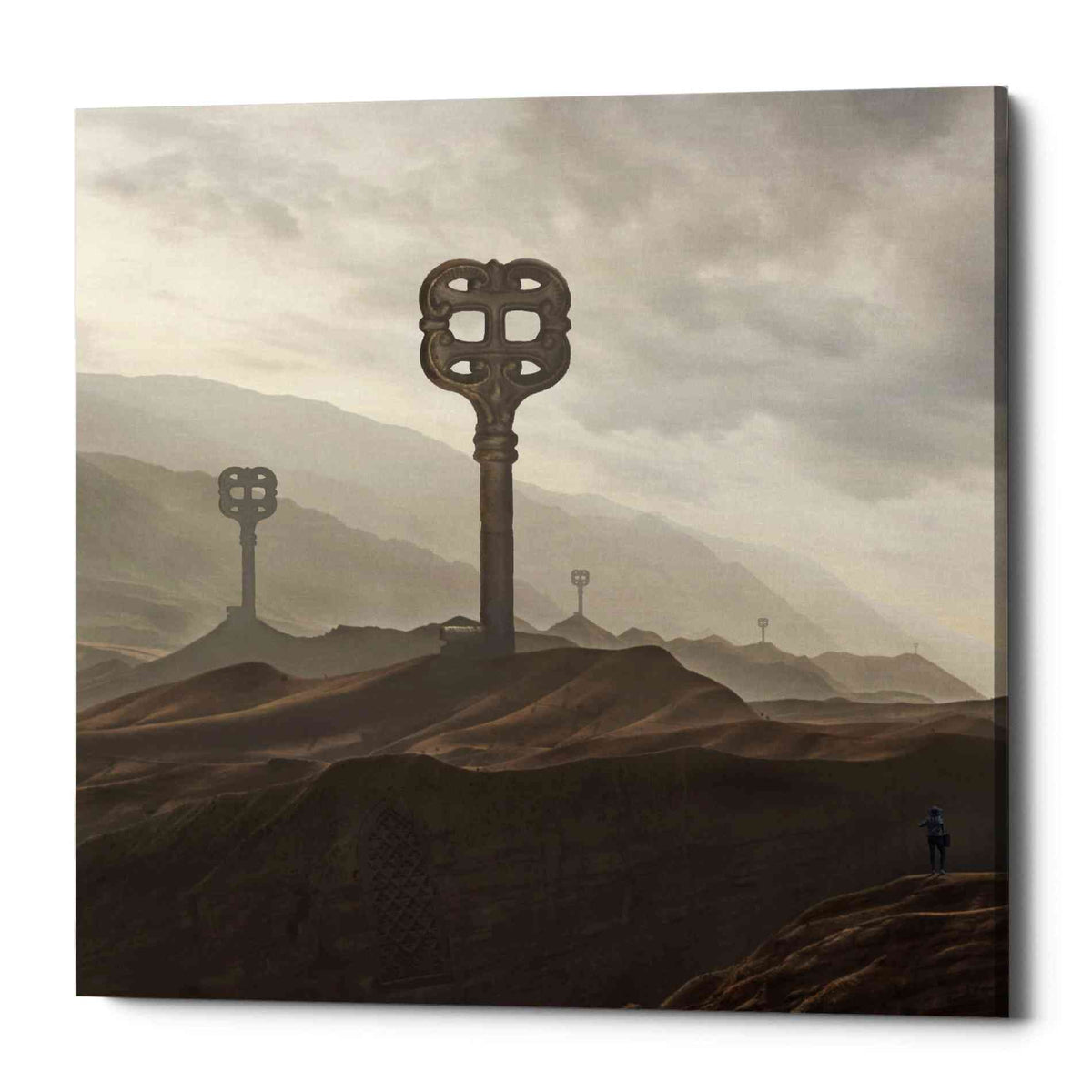Epic Graffiti 'Land of Keys' by Dariusz Klimczak, Canvas Wall Art