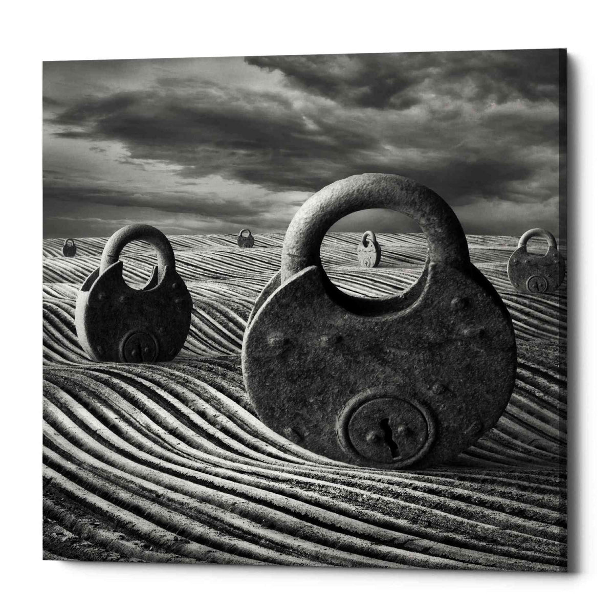Epic Graffiti 'Locked Landscape' by Dariusz Klimczak, Canvas Wall Art