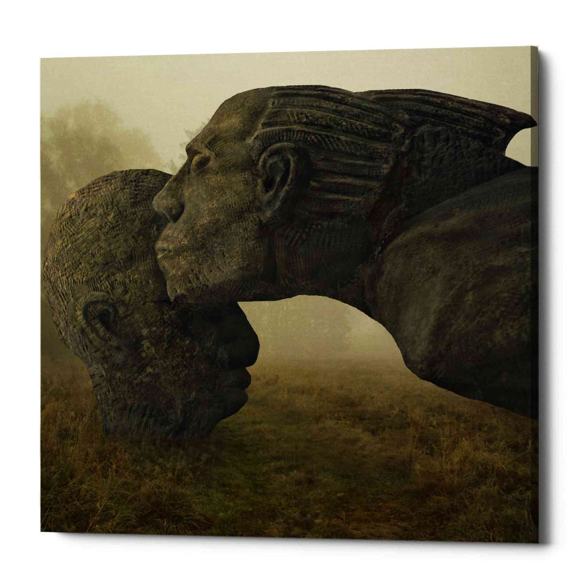 Epic Graffiti 'Mother's Kiss' by Dariusz Klimczak, Canvas Wall Art