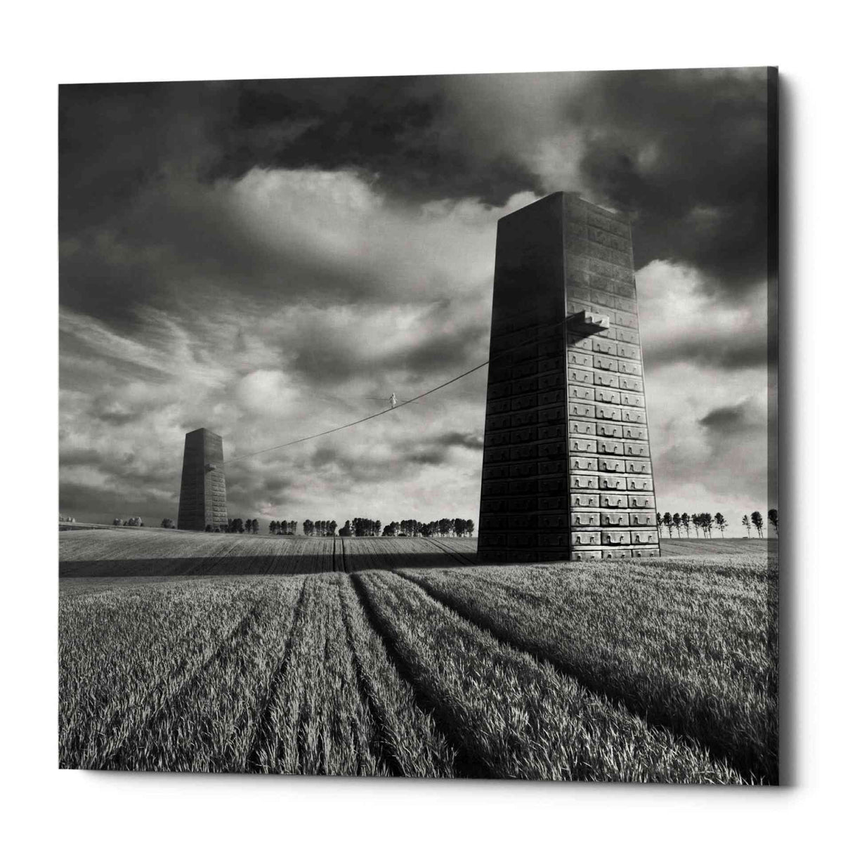 Epic Graffiti 'Szflandia' by Dariusz Klimczak, Canvas Wall Art