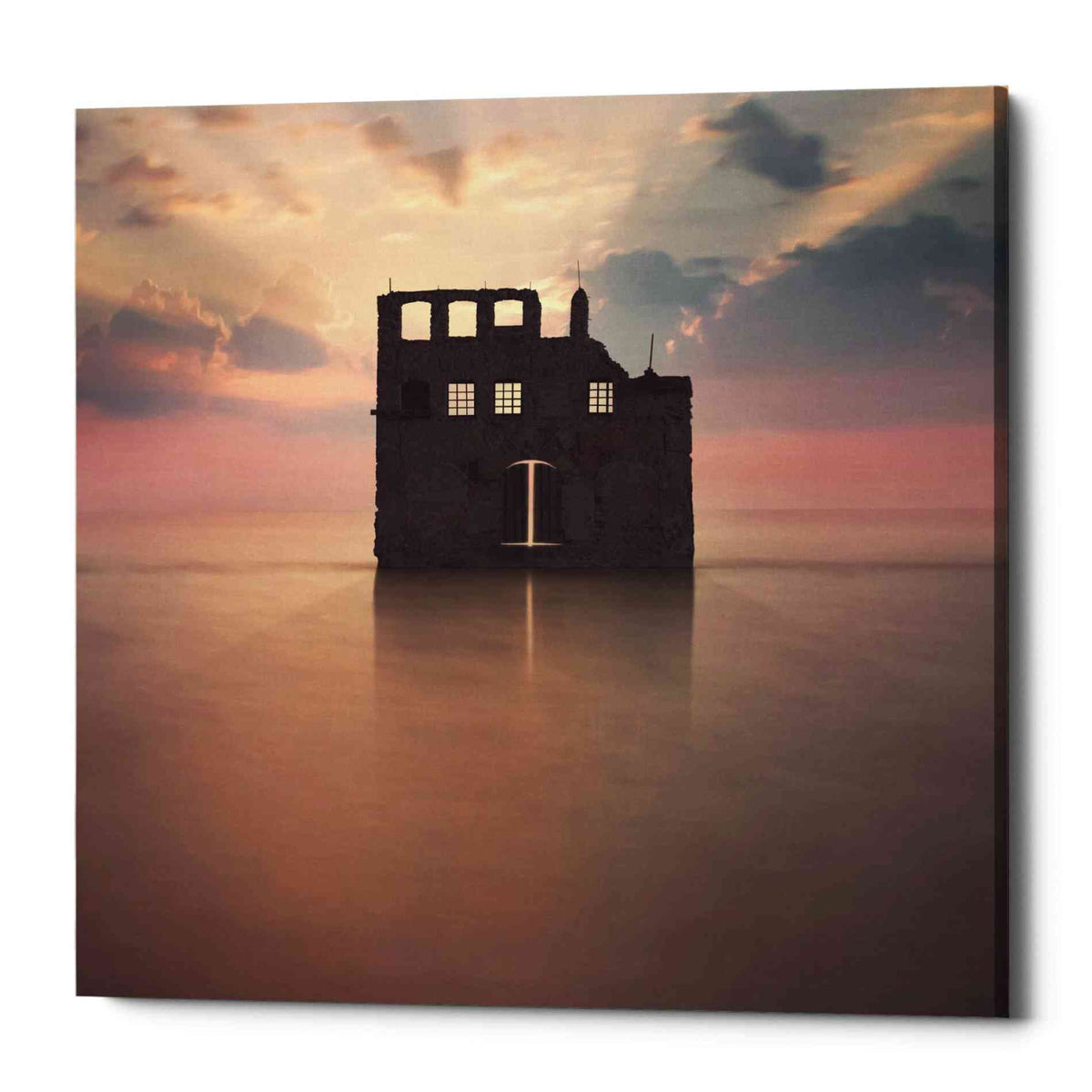 Epic Graffiti 'Watercastle' by Dariusz Klimczak, Canvas Wall Art