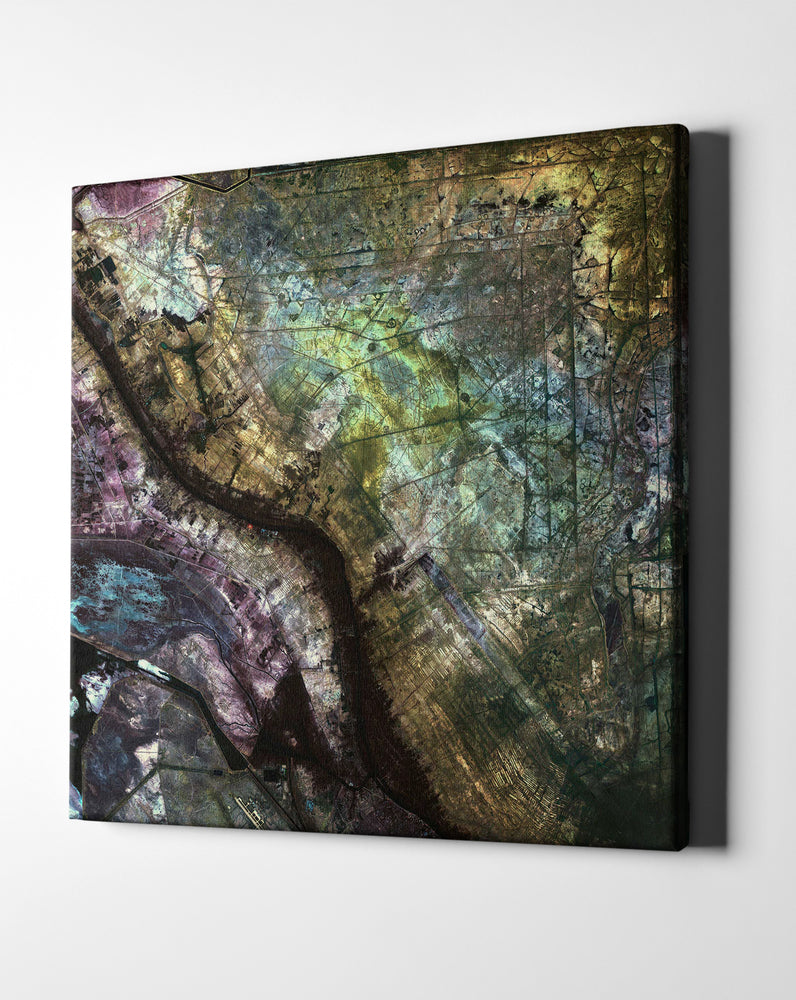 "Epic Graffiti ""Earth As Art: Iraqi Emplacement"" Giclee Canvas Wall Art"