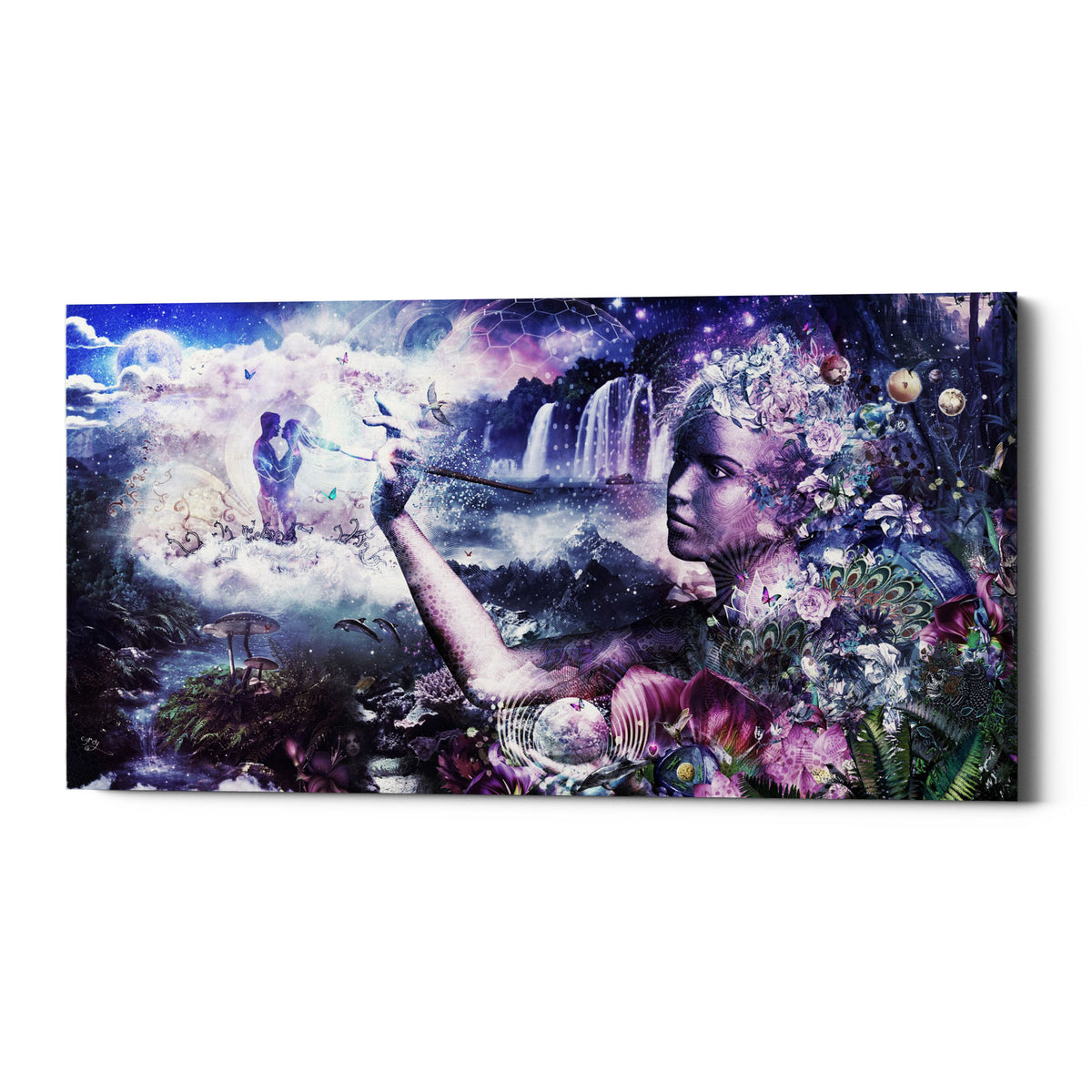 "Epic Graffiti ""The Painter"" by Cameron Gray, Giclee Canvas Wall Art, 20""x40"""