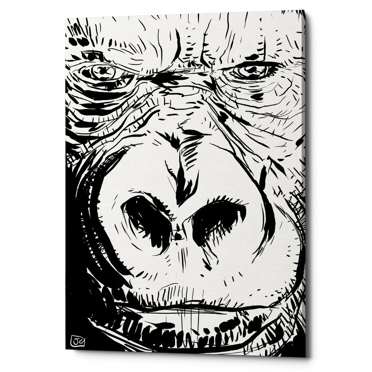"Epic Graffiti ""Gorilla"" by Giuseppe Cristiano, Giclee Canvas Wall Art"