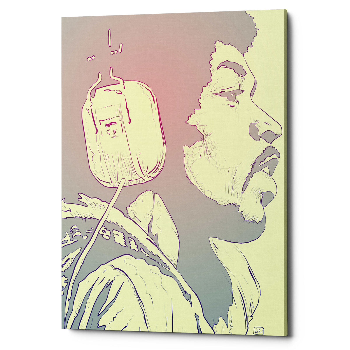 "Epic Graffiti ""Jimi Hendrix"" by Giuseppe Cristiano, Giclee Canvas Wall Art"